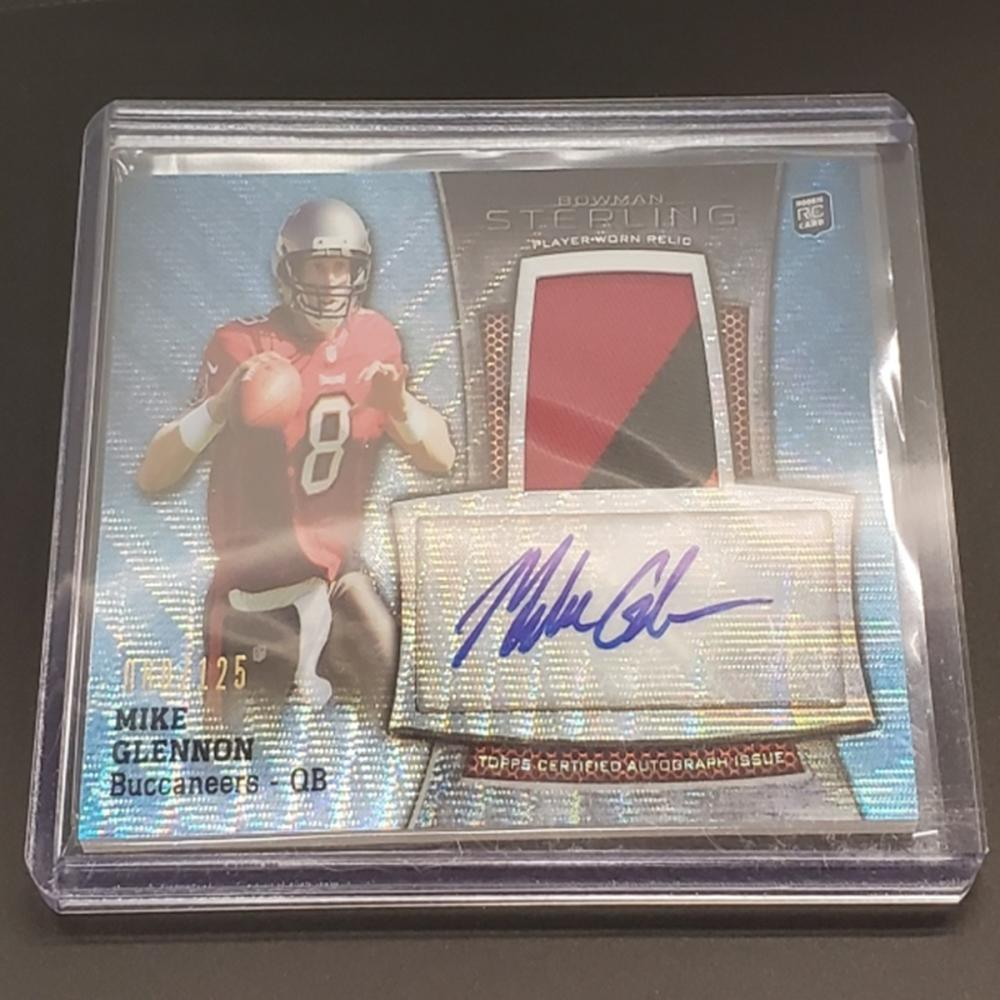 Lot 18: 2013 Topps Bowman Sterling Mike Glennon RC Patch