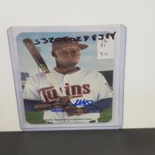 Lot 21: 2016 Topps Miguel Sano Autograph Issue