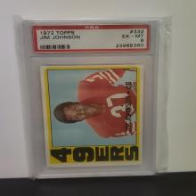 Lot 26: 1972 Topps Jim Johnson #332 PSA Graded EX-MT 6