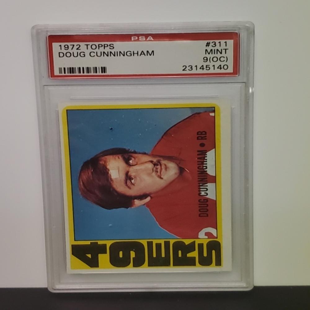 Lot 30: 1972 Topps Doug Cunningham #311 PSA Graded Mint 9