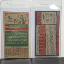 Lot 43: (2) Topps Vintage NBA Cards: Maravich/Lanier