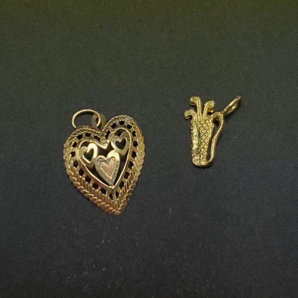 (2) Yellow Gold Pendants - 14k and 10k