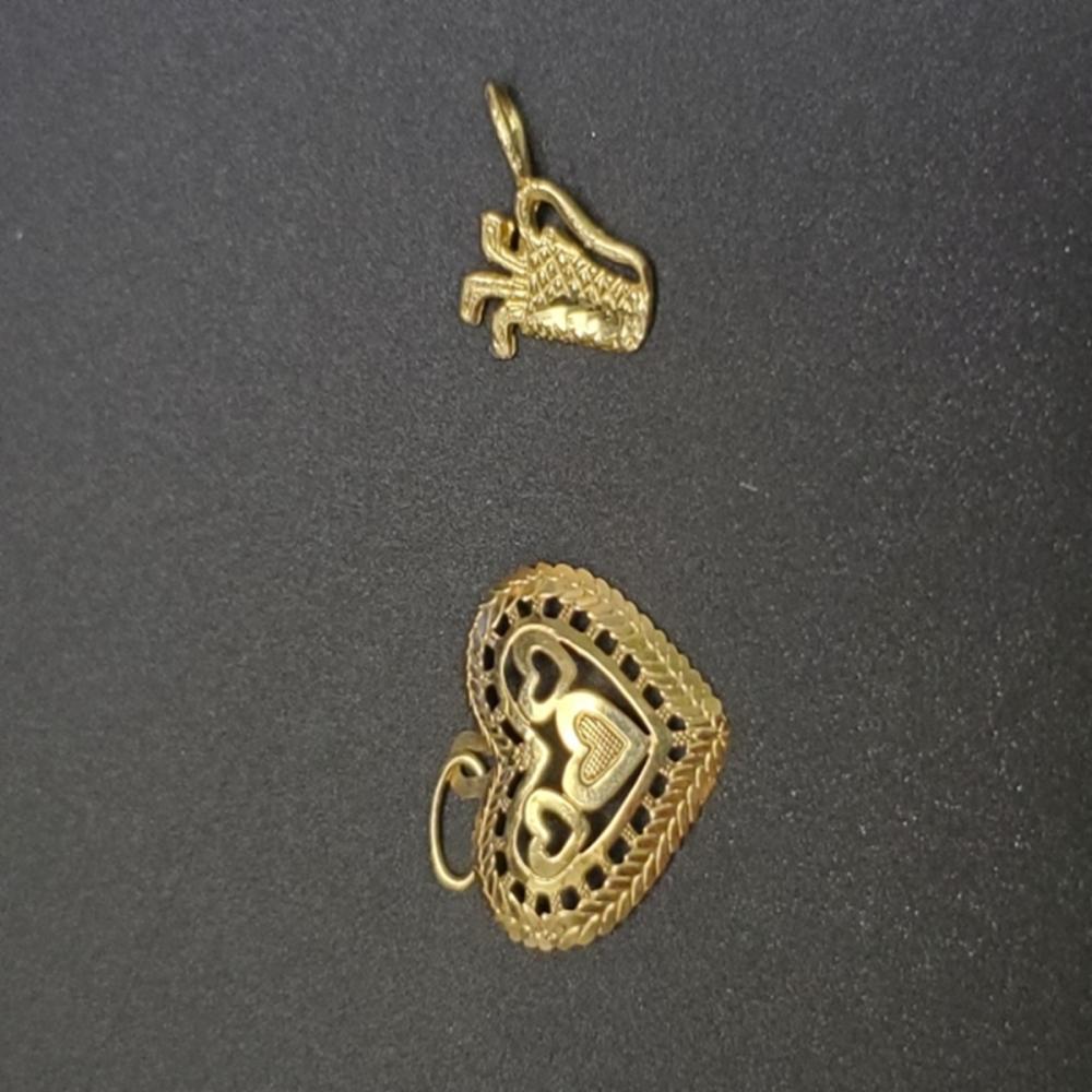 Lot 70: (2) Yellow Gold Pendants - 14k and 10k