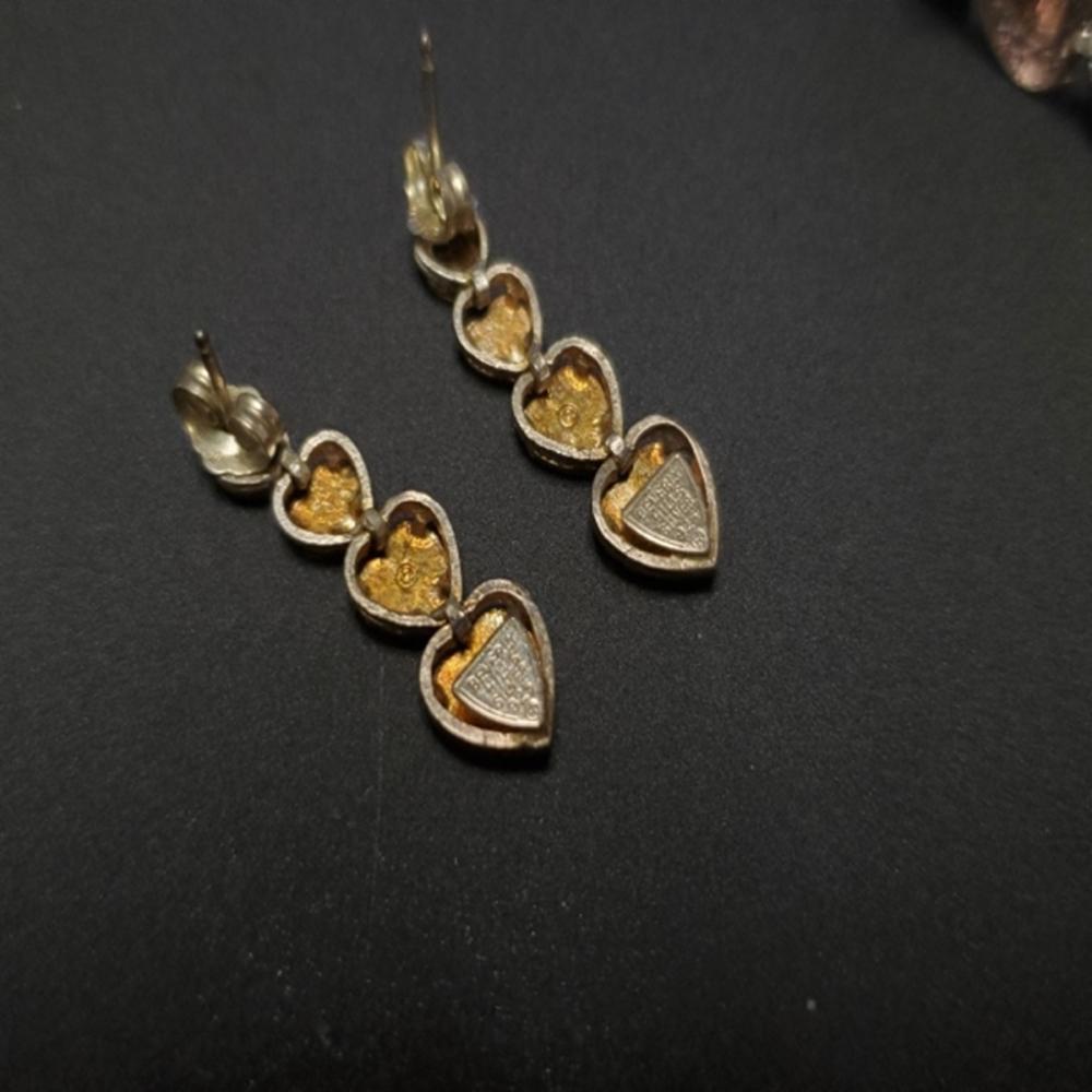 Lot 72: Beverly Hills Sterling Heart Bracelet w/Earrings