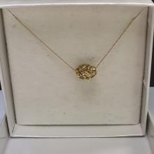 Lot 76: 10 Karat Yellow Gold Necklace with Gold Bead