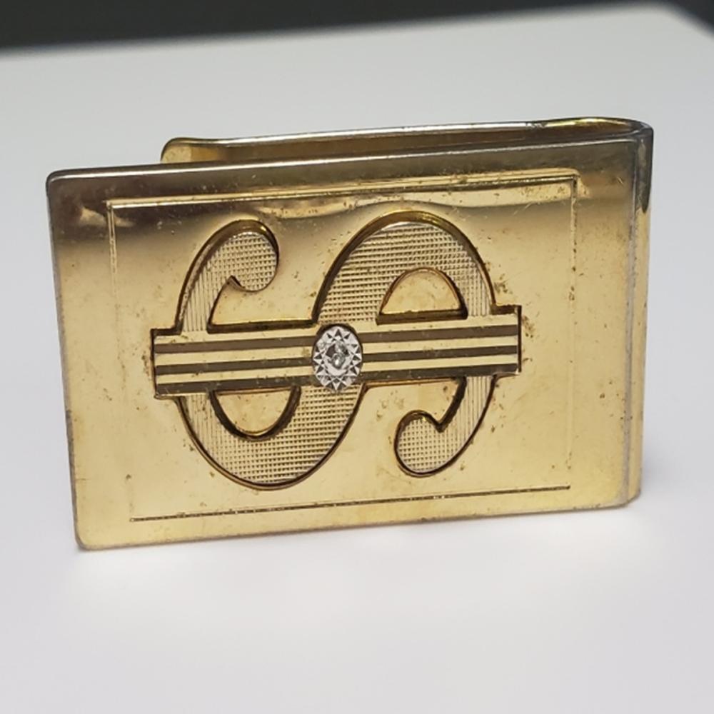 Lot 88: Pierre Cardin Money Clip With Diamond Accent