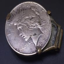 Lot 89: 1922 Peace Silver Dollar in Money Clip