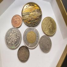 Lot 91: Lot of Miscellaneous Foreign Coin Currency