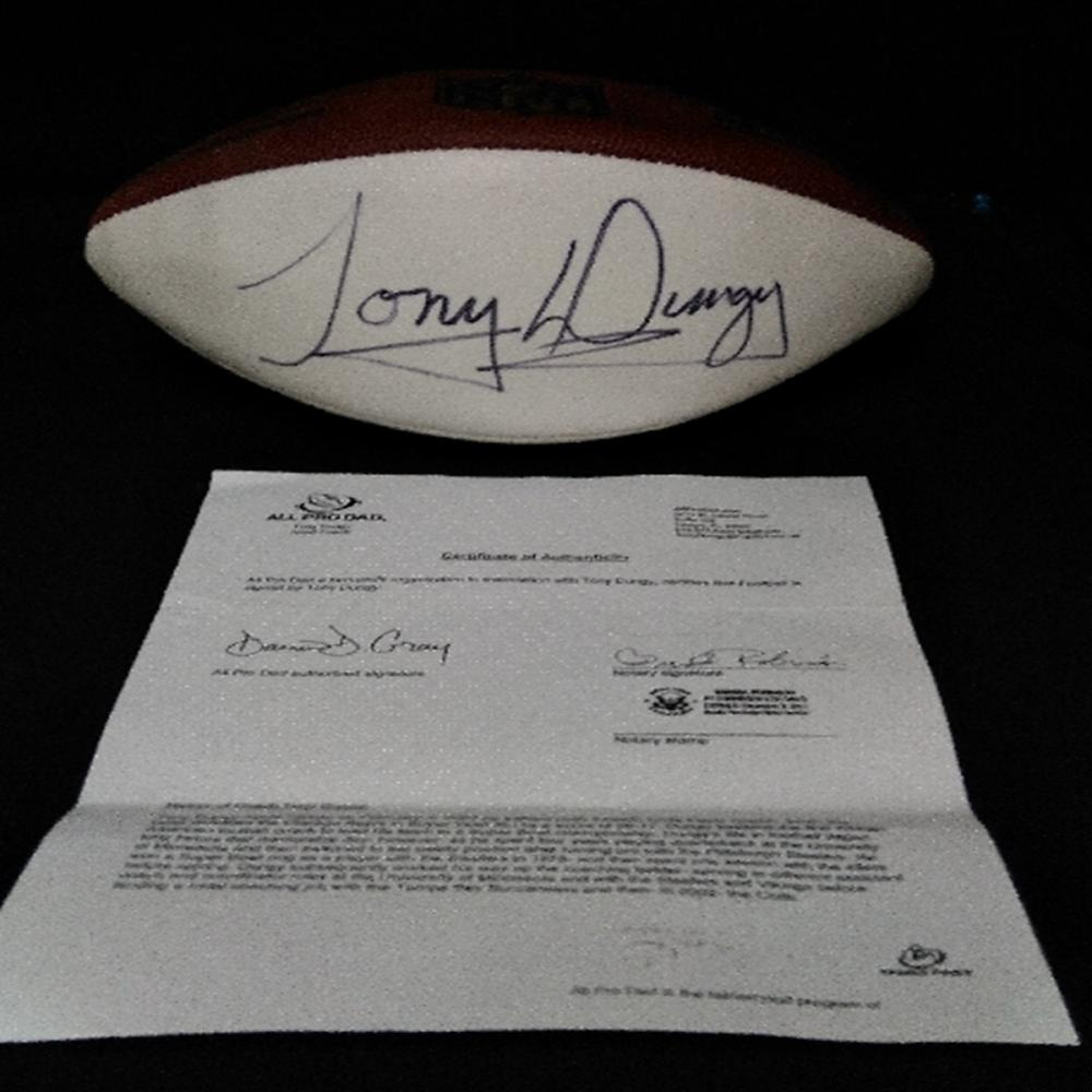 Autographed Tony Dungy Football - Certified!