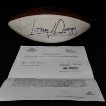 Lot 92: Autographed Tony Dungy Football - Certified!