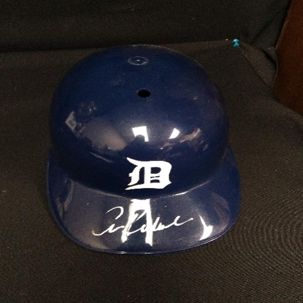 Autographed Detroit Tigers Collector's Helmet