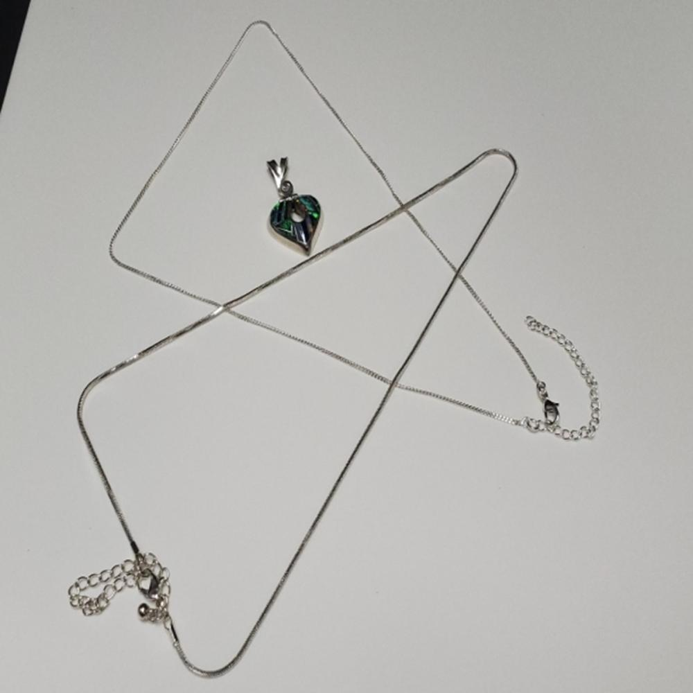 950 Mexican Silver Pendant with Silver Tone Chains