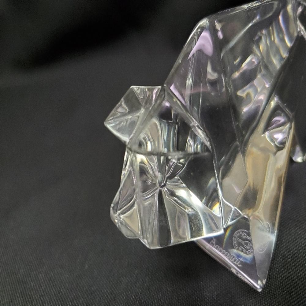 Lot 107: Baccarat France Signed Origami Crystal Pig