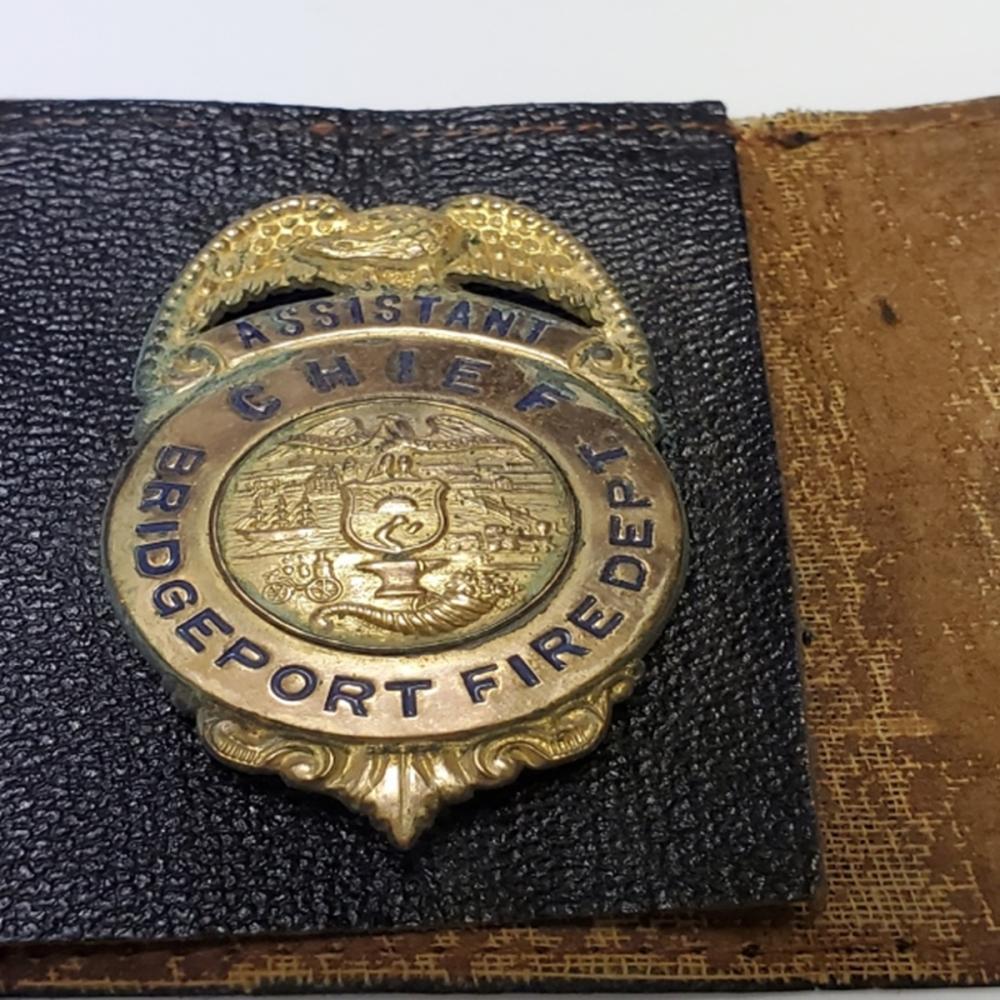 Vintage Bridgeport Fire Department Badge