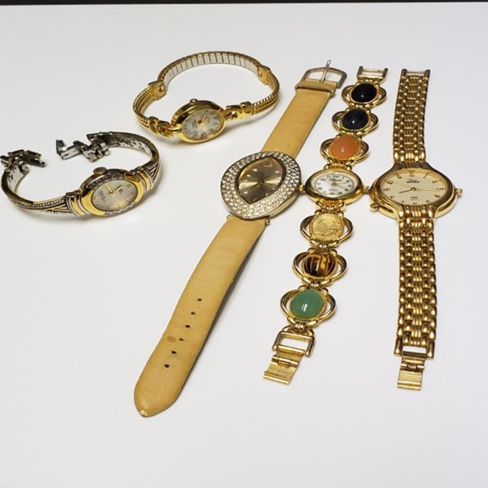 Gold Tone Watch Lot - Ladies