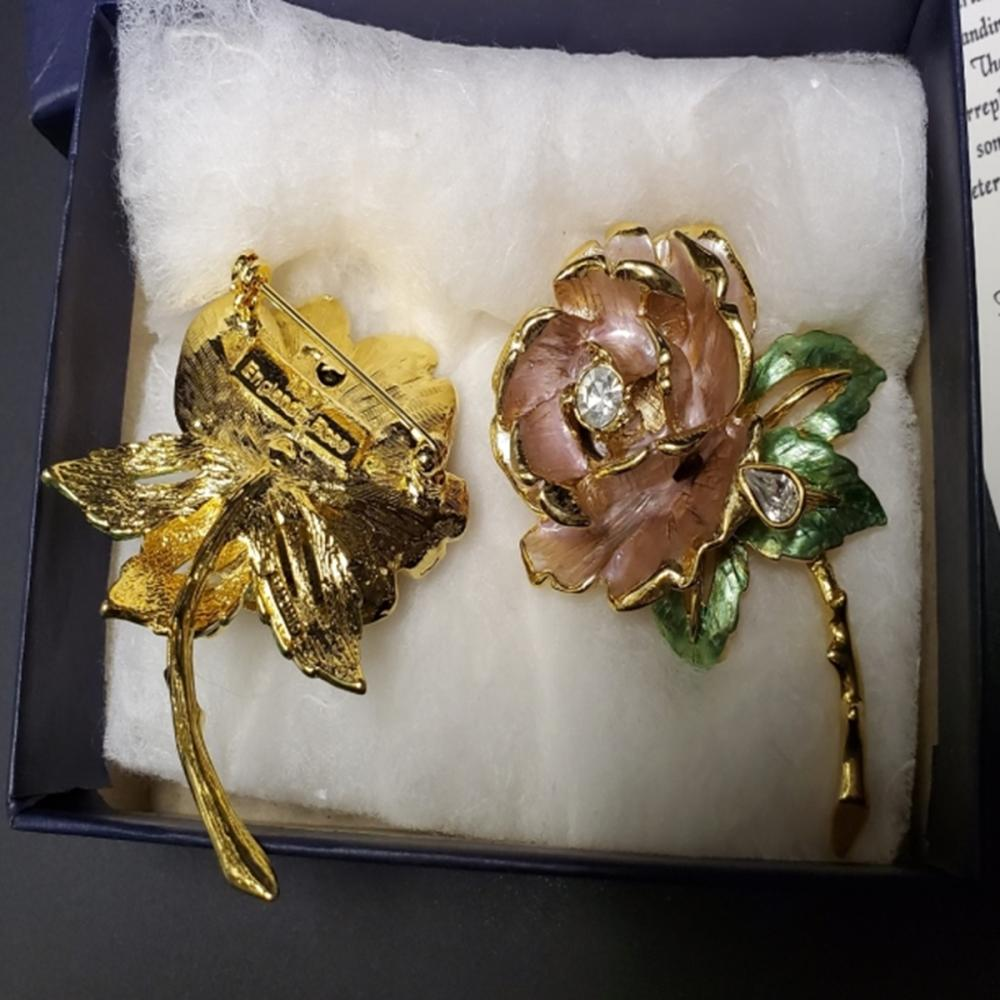 Lot 118: (2) England's Rose Pins - One with Box!