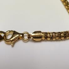 Lot 122: Gold Over 925 Sterling Chain Necklace