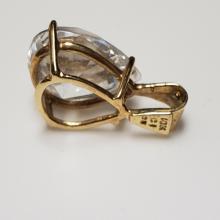 Lot 129: 10 Karat Yellow Gold Pendant with Cubic Zirconia