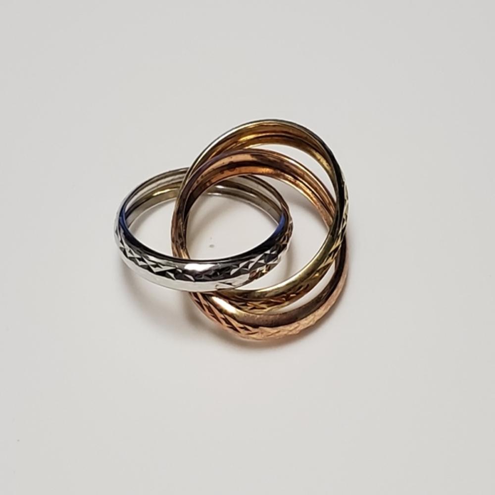 Tri-Color 10 Karat Gold Ring