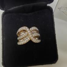 Lot 133: Gold Over Sterling Silver Ring by Victoria Wieck