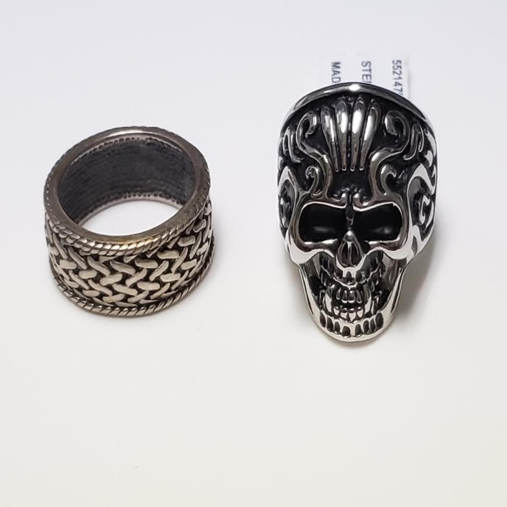 Men's SS Skull Ring/ Sterling Silver Ring