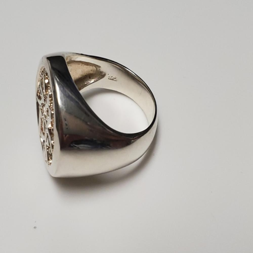 Lot 135: Size 12.75 Chinese Symbol Ring - Sterling!