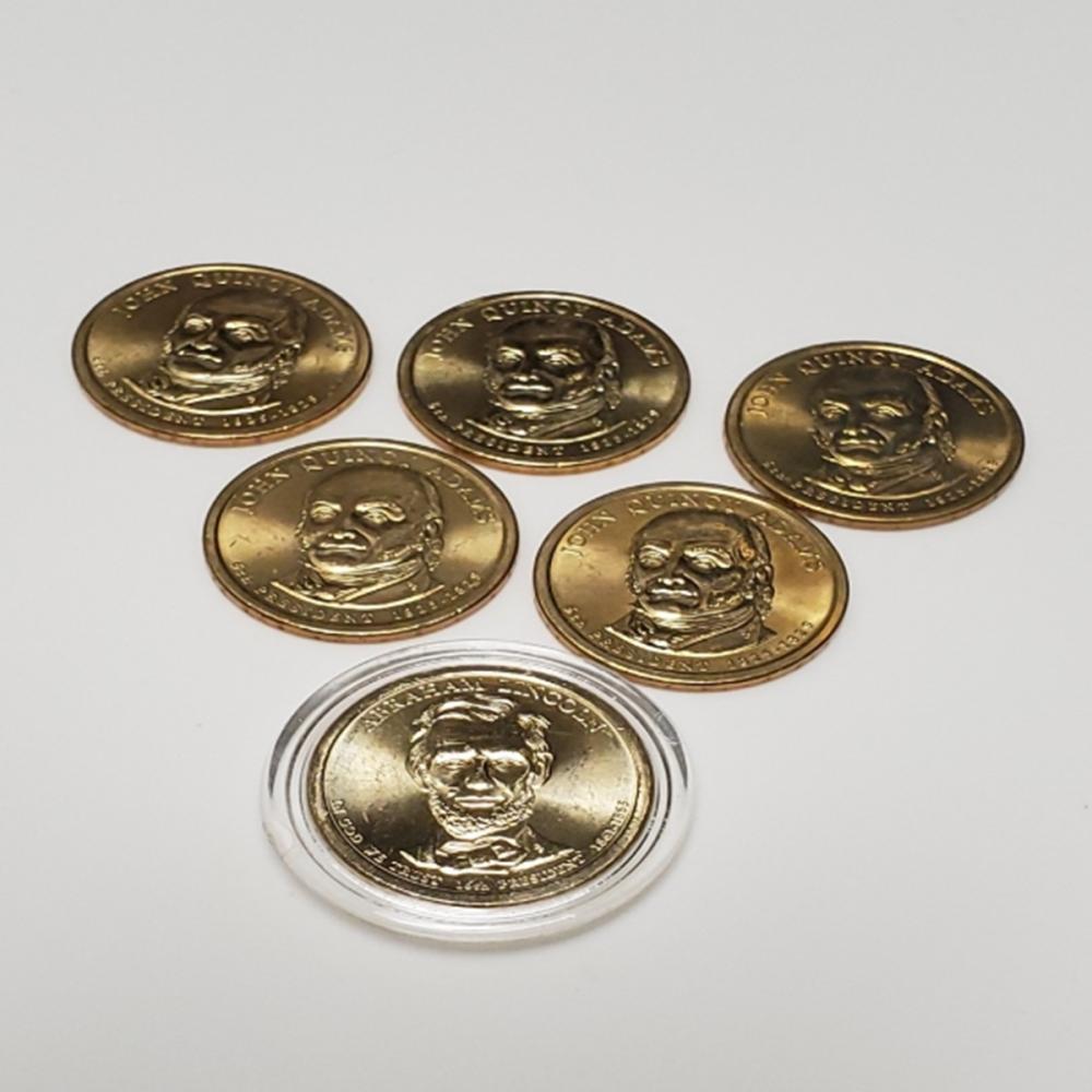 (5) 2008 John Quincy Adams $1 Gold Coins ++++