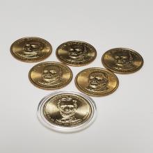 Lot 142: (5) 2008 John Quincy Adams $1 Gold Coins ++++