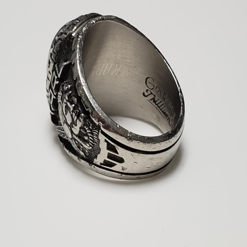 Lot 155: Vintage Mens GoldLance Trillium Class Ring Sz 9.5