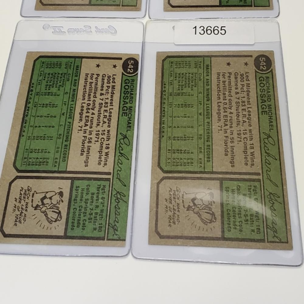 Lot 157: 1974 Chicago White Sox Player Cards - (4)