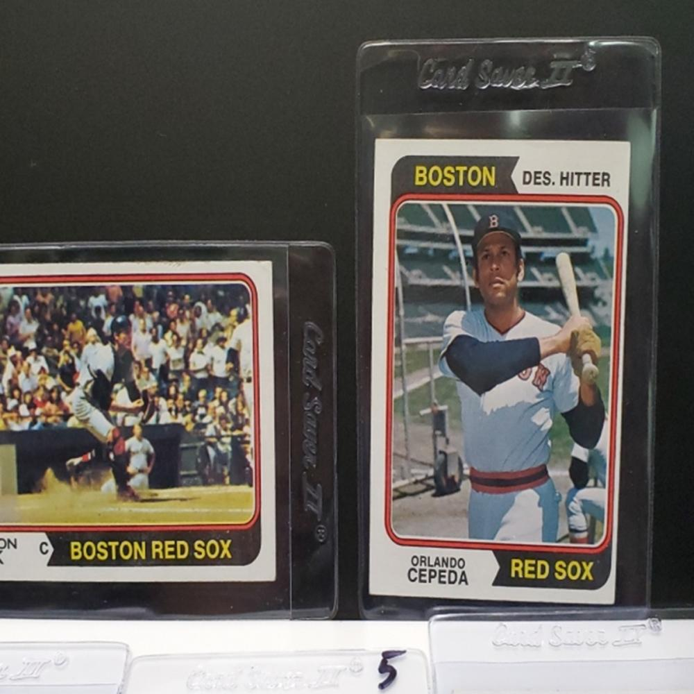 Lot 158: (11) 1974 Boston Red Sox Player Cards