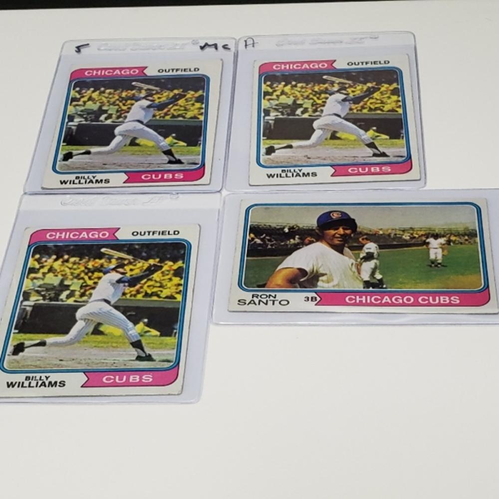 Lot 160: (4) 1974 Chicago Cubs Player Cards