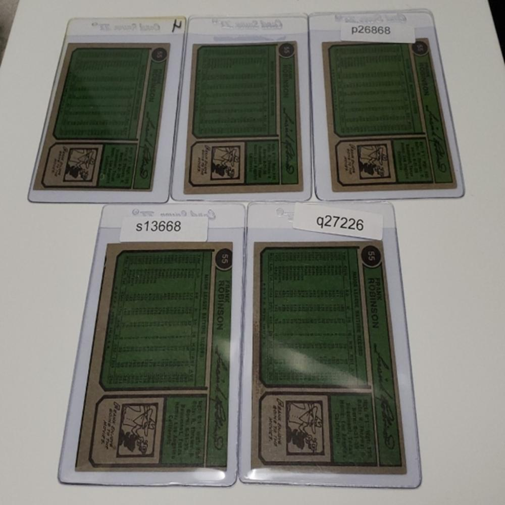 Lot 161: (5) 1974 California Angels Player Cards