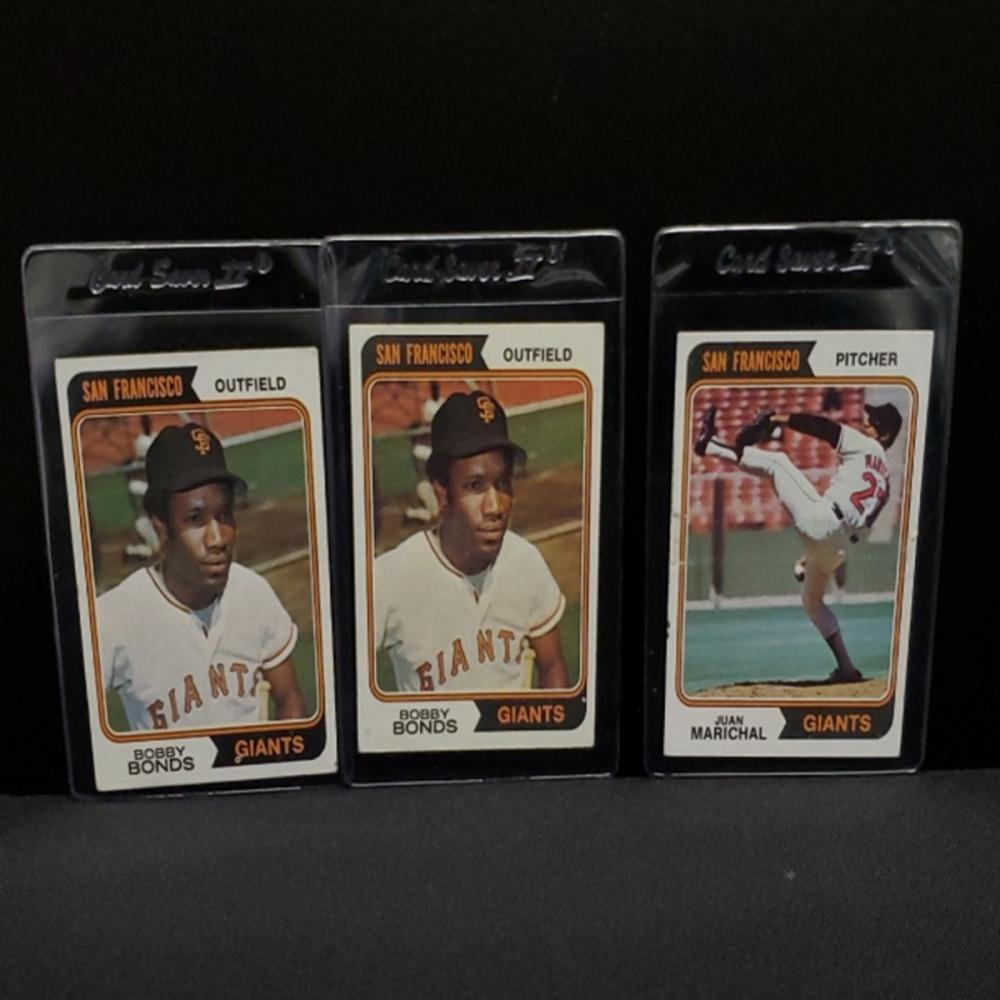 Lot 164: (3) 1974 San Francisco Giants Player Cards