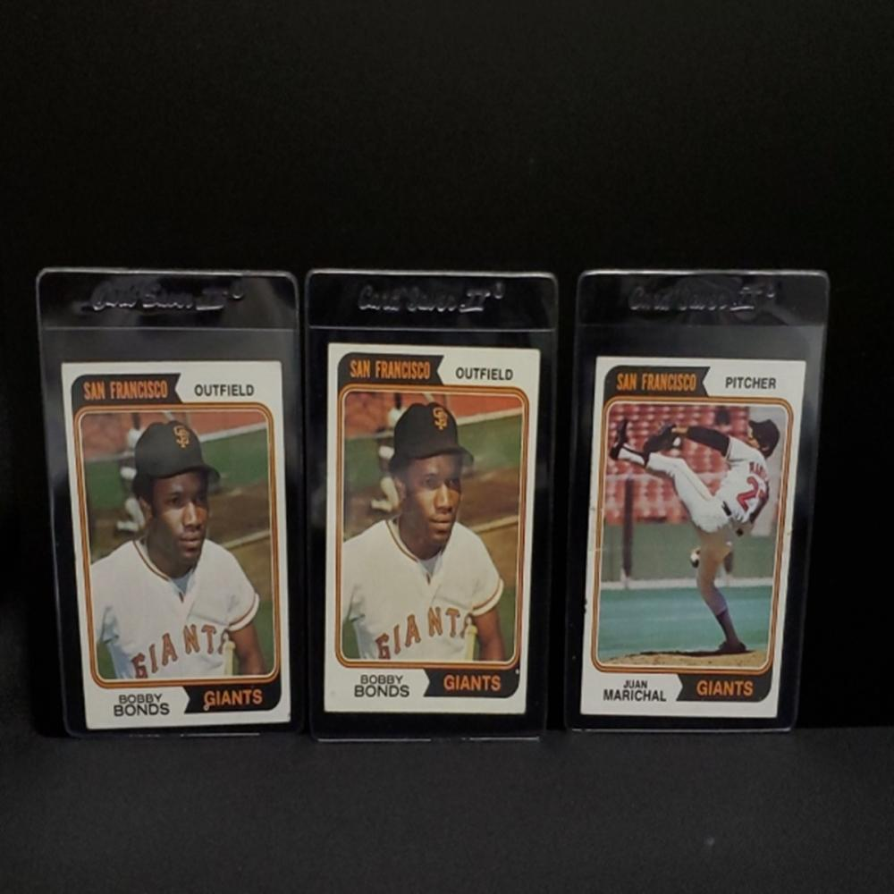 (3) 1974 San Francisco Giants Player Cards