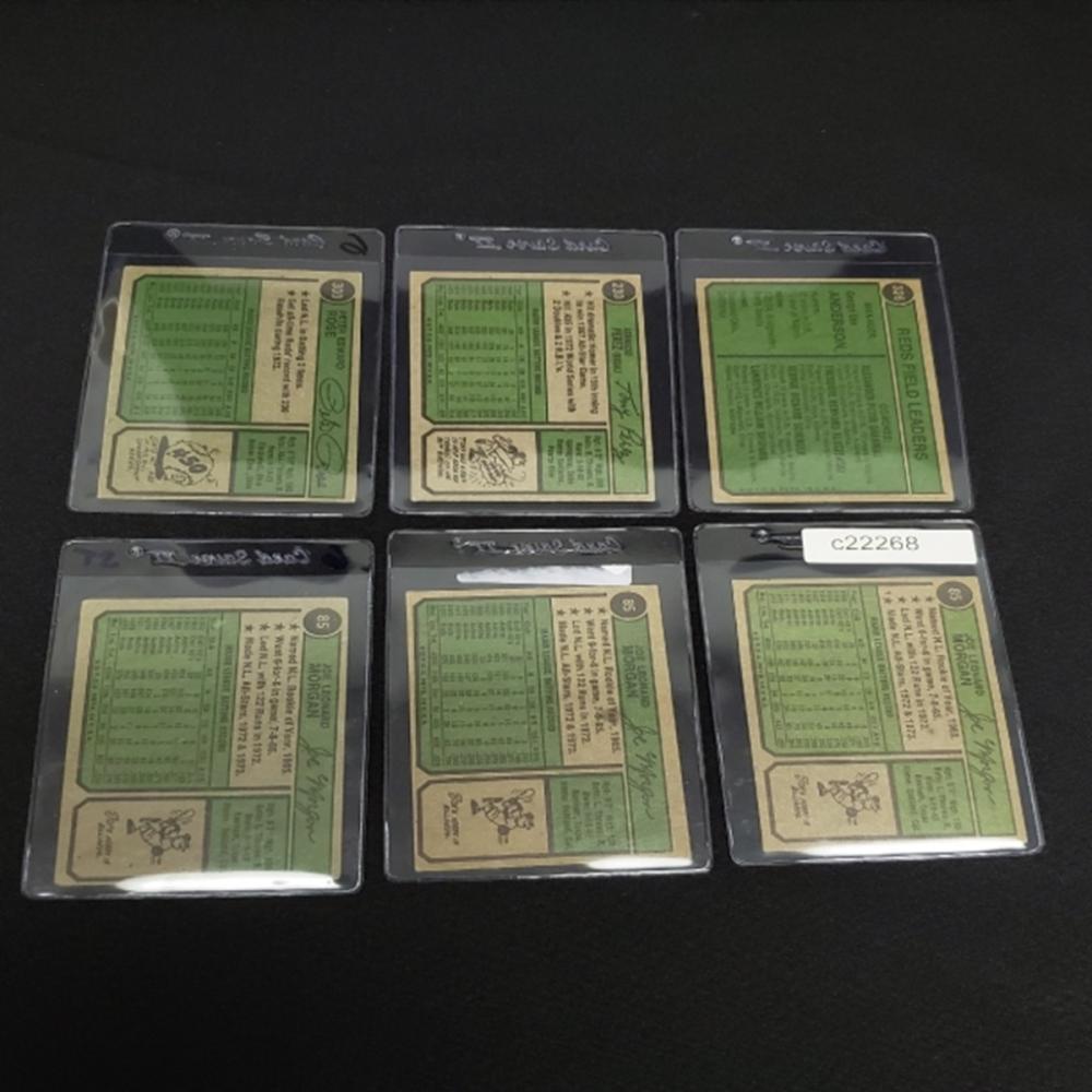 Lot 165: (6) 1974 Cincinnati Reds Player Cards