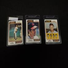 Lot 167: (3) 1974 Baltimore Orioles Player Cards