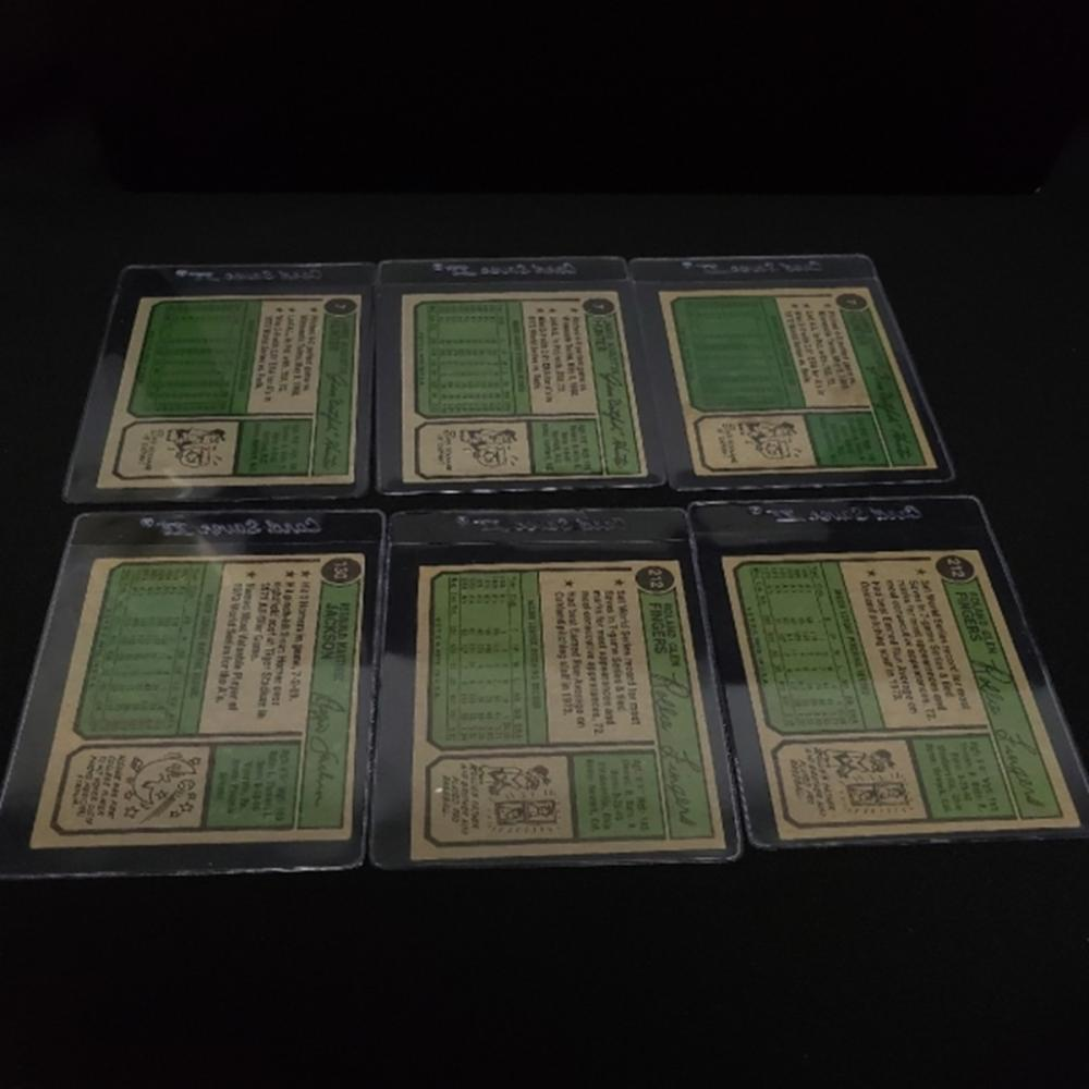 Lot 169: (6) 1974 Oakland A's Player Cards
