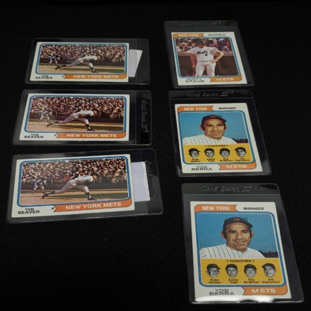 (6) 1974 New York Mets Player Cards