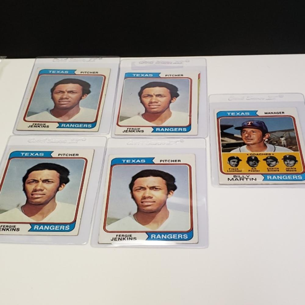 Lot 173: (5) 1974 Topps Texas Rangers Player Cards
