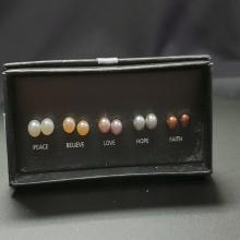 Lot 180: NVC Cultured Pearl 5 Earring Sets in Box