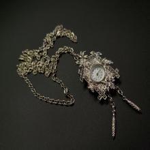 Lot 182: Vintage Futura Pendant/Brooch Necklace Watch