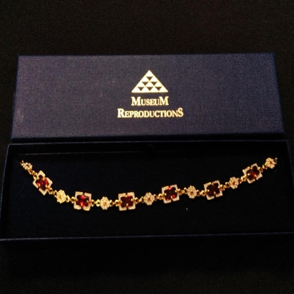 Museum Reproductions Orange Tourmaline Necklace