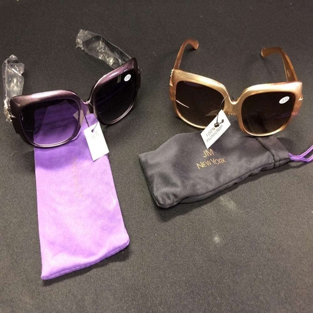 (2) Pairs of Joy & Iman Bifocal Sunglasses - NEW!!