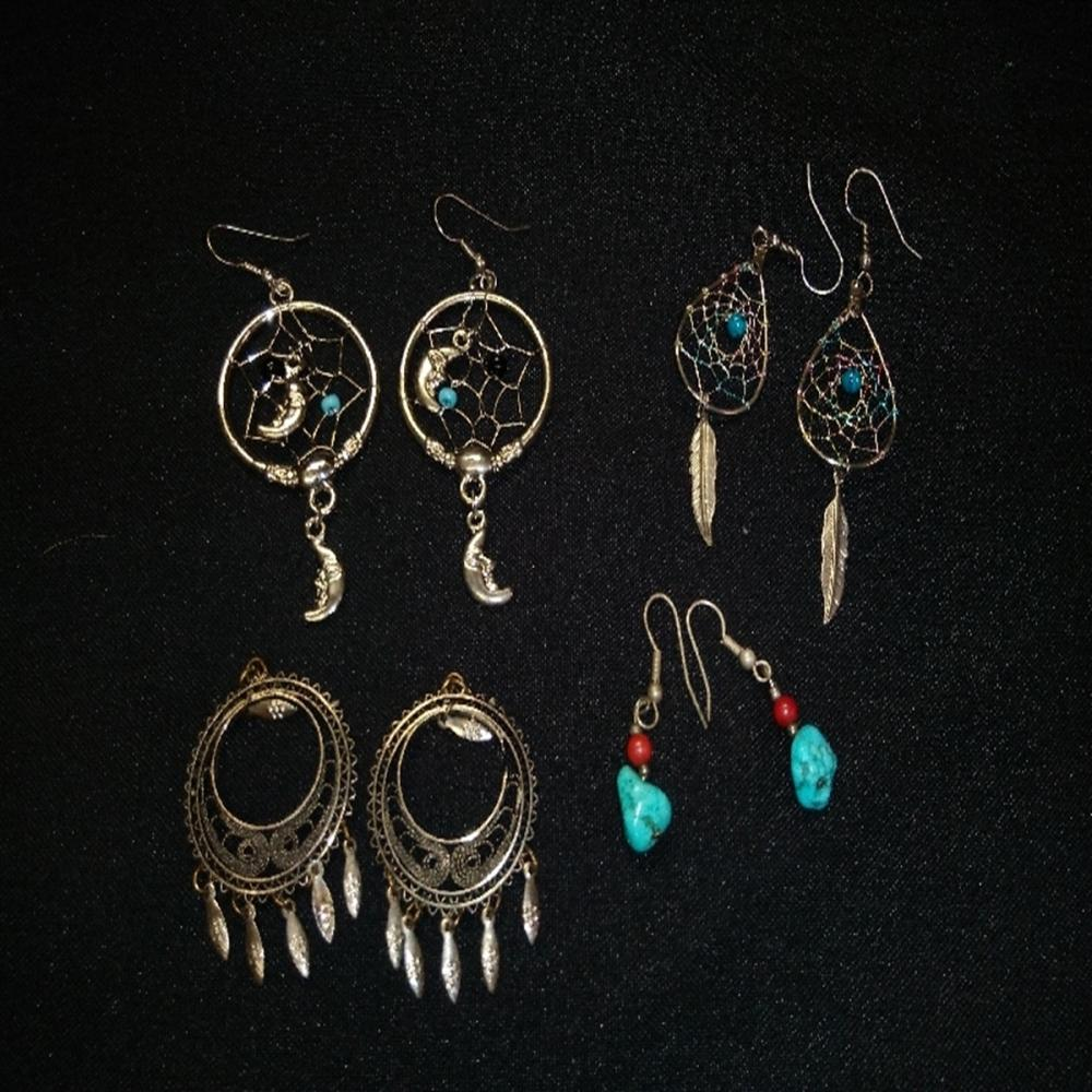 Dream Catcher Earring lot with Turquoise