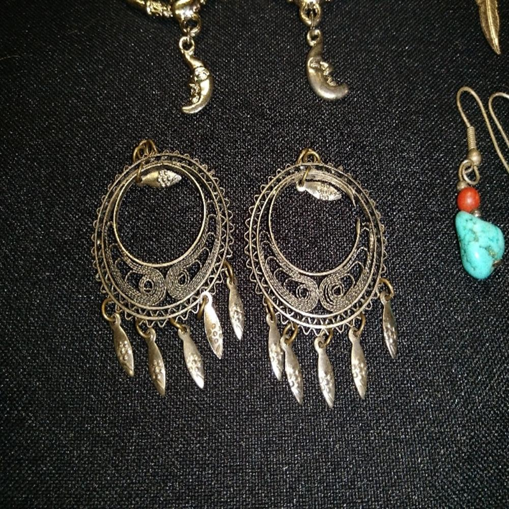 Lot 188: Dream Catcher Earring lot with Turquoise