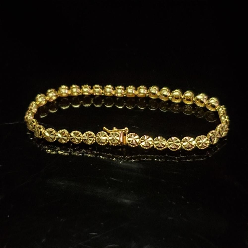 14 Karat Yellow Gold Beverly Hills Tennis Bracelet