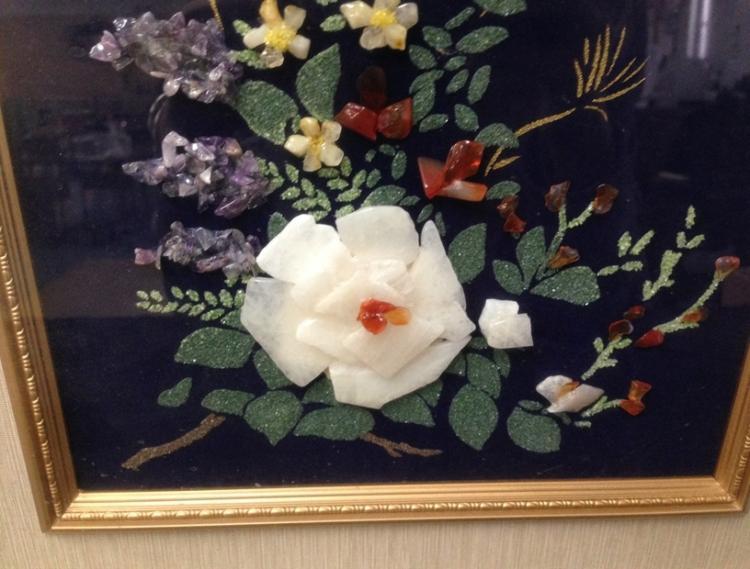 Wall Clock Floral Design : Vintage wood frame floral design wall clock