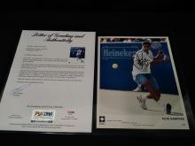 Signed Pete Sampras Photograph w/grading & Auth.