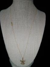 14 K Gold Chain and 10 K Gold Angel Pendant/Charm